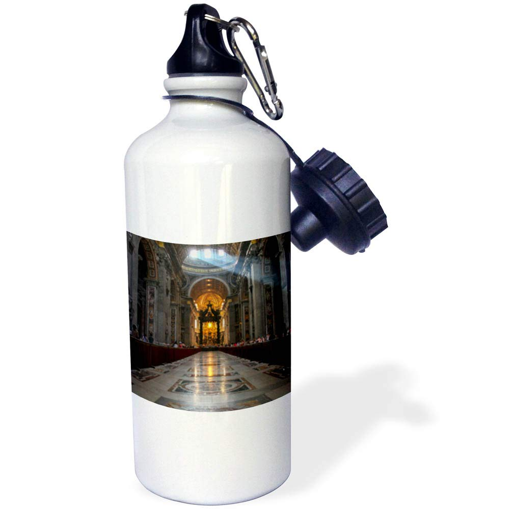 3dRose Elysium Photography - Architecture - St. Peters Basilica interior, Rome, Italy - 21 oz Sports Water Bottle (wb_289615_1)