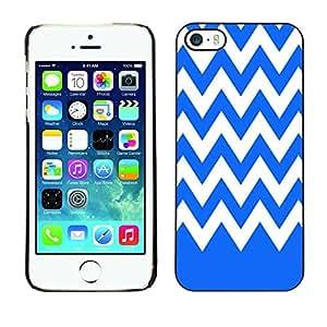 Dragon Case - FOR iPhone 5 / 5S - Blue and white - Caja protectora de pl??stico duro de la cubierta Dise?¡Ào Slim Fit