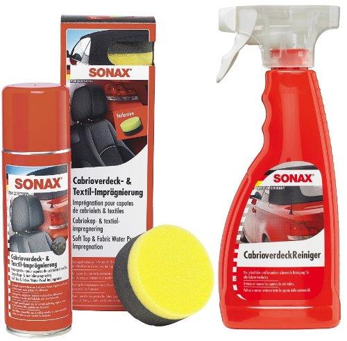 SONAX Cabrio - Set para el Cuidado de Coches descapotables (Limpiador e impermeabilizador, 2 Unidades) 10015