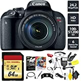 Canon EOS Rebel T7i DSLR Camera + 18-135mm Lens + 64GB Memory Card (1x 64) Base Combo