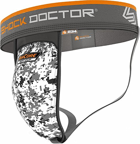 234 Supporter w/AirCore Soft Cup Adult L, WHITE/CAMO