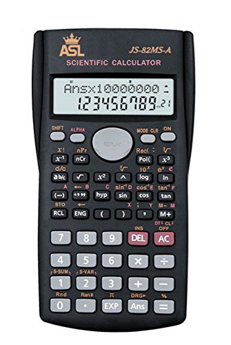 ASL Scientific Calculator - Best Multi function calculator, Advanced calculator, Financial calculator, Engineering calculator with large 2 line LCD display screen and protective cover