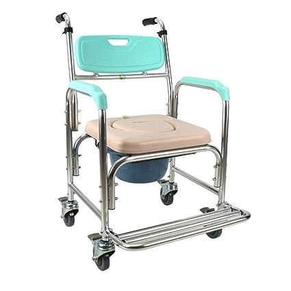 Anciano Inodoro Polea Cómoda Silla Ascensor Brazo Baño Respaldo Baños Discapacitado Ruedas Enfermería Móvil Cómoda (
