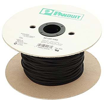Image of Cable Sleeves Panduit SE125P-LR0 Braided Expandable Sleeving, Black