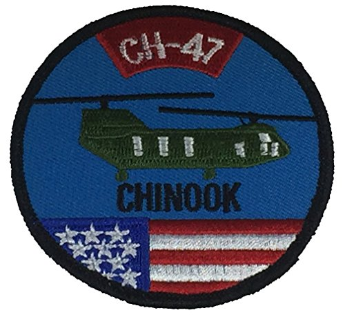 Helicopter Patch - CH-47 CHINOOK HELICOPTER Patch - Color - Veteran Owned Business.