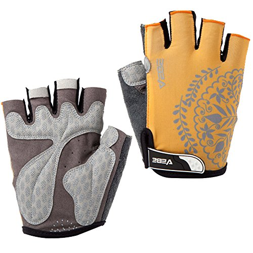 SBD VEBE Womens Sports Professional Non-Slip Biking Riding Gloves Cycling Accessaries,Yellow,M
