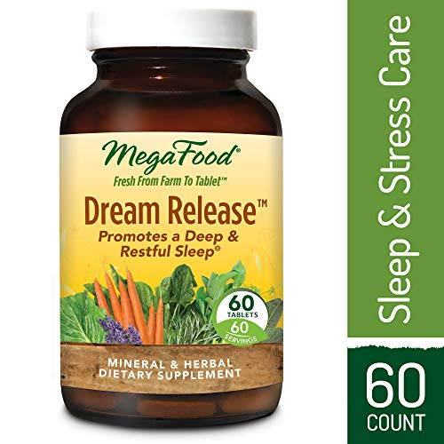 MegaFood – Dream Release, Promotes Mental Calm to Support Deep Relaxation and Restorative Sleep with Ashwagandha and Valerian Root, Vegan, Gluten-Free, Non-GMO, 30 Tablets For Sale
