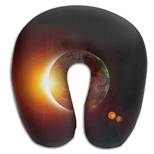 Memory Foam Neck Pillow Solar Eclipse Sun Comfy Soft U-Shape Travel Pillow Head Support For Travel Office Sleeping by ROCHELLE AYOKO