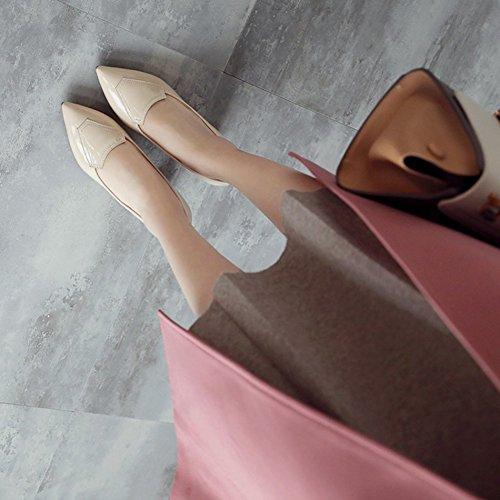 Blockabsatz Zehen Aprikosenfarben Spitze Arbeit Top Aisun Klassisch Für Pumps Damen Business Low nTqxaXwH