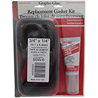 Rutland 95W-6 Grapho-Glas Flat Gasket Replacement Kit, 3/4-Inch by 1/4-Inch by 7-Feet