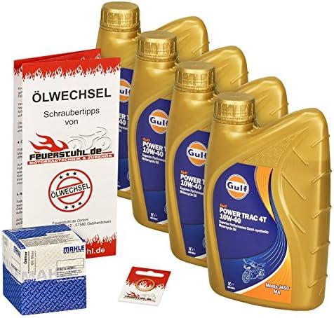 Gulf 10w 40 Öl Mahle Ölfilter Für Kawasaki Vn 900 Classic Custom Vn900b Vn900c Ölwechselset Inkl Motoröl Filter Dichtring Auto