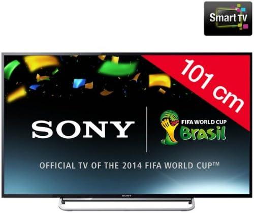 SONY BRAVIA KDL-40W605B - Televisor LED Smart TV + Kit soporte de pared fijo + cable HDMI 920003: Amazon.es: Electrónica