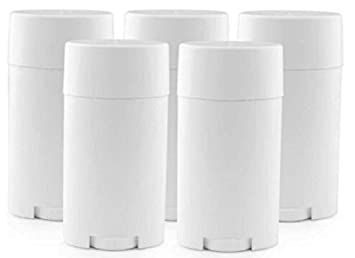 10pcs Plastic White 15ml Empty Oval Deodorant Container Lip Balm Tubes Lip  Gloss Container Holder