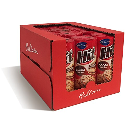 (Bahlsen Hit Chocolate Filled Sandwich Cookies (12 pack) - Crisp golden biscuit filled with cocoa crème - 4.7 oz boxes )