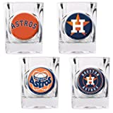 Houston Astros 4 Piece Assorted Shot Glass Set by Great American Products