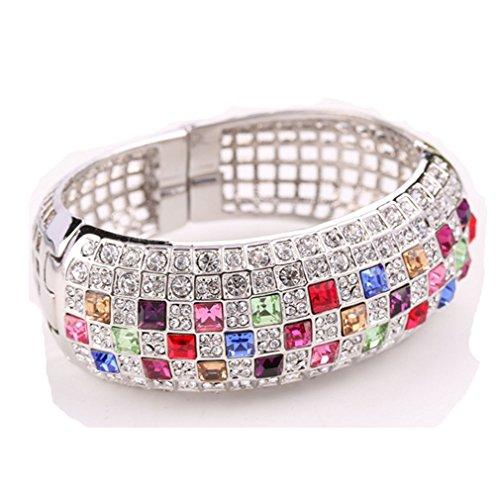 [LOMOL Womens Top Grade Fashion Elegant Noble Charm Shining Alloy Crystal Bracelets(C3)] (Egyptian Woman Costume Uk)