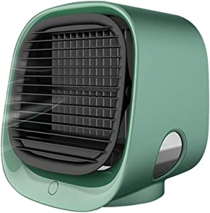 Portable Air Conditioner Personal Air Cooler with Icebox, USB Desk Fan with 3 Speeds, Evaporative Air Cooler for Home, Office,Bedroom Use, Air Humidifier, USB Charging, Super Quiet Humidifier Misting Fan