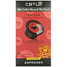 CBTL Italian Espresso Capsules By The Coffee Bean & Tea Leaf, 16-Count Box
