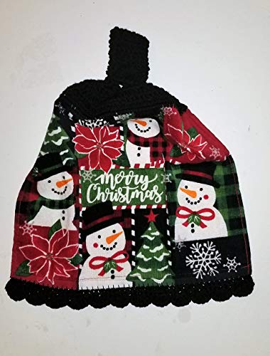 Christmas Hanging Kitchen Towel with Decorative Bottom Edge