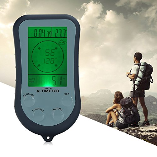 Multi Function Digital Compass (Pellor 6 In 1 Digital Multifunction Compass Altimeter Barometer Thermometer Weather Forecast)