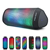 Bluetooth Speakers Portable Wireless Speaker 7 LED Light Modes Support TWS Play Built-in Mic,AUX,HandsFree for iPhone iPad Samsung Android Phone Loud Sound Wireless Bluetooth Speaker