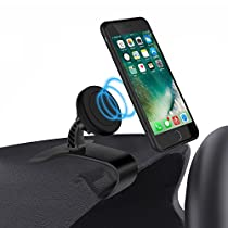Car Mount Holder,LYASI Magnetic Dashboard Car phone Holder Adjustable Cell Phone Stand Holder with 360° Rotation Design for iPhone 7 Plus 6S 6 5s 5 SE, Galaxy S8 S7 Edge, Note 5 and Other Smartphones
