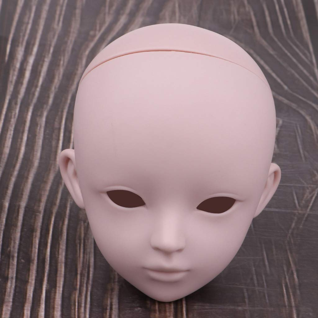 1//3 BJD Doll Head Sculpt without Eyeballs for Supper Dollfie DOD LUTS Custom