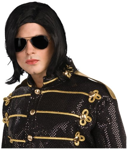 Michael Jackson Long Straight Wig and - Hair Men Long Glasses