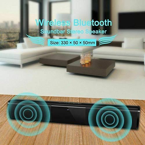RONSHIN Bluetooth Speakers,Wireless Bluetooth Sound Bar Speaker System TV Home Theater Soundbar Subwoofer 2 Speak Driver by RONSHIN