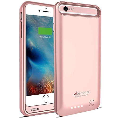 iPhone 6S / 6 Battery Case, Alpatronix BX140 (4.7-inch) 3100mAh Rechargeable Protective External Portable Charging Case for iPhone 6S 6 Juice Bank Power [MFi Certified, iOS 10+ Support] - Rose Gold