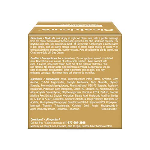 CICATRICURE Gold Lift Night Cream, 1.7 Ounce
