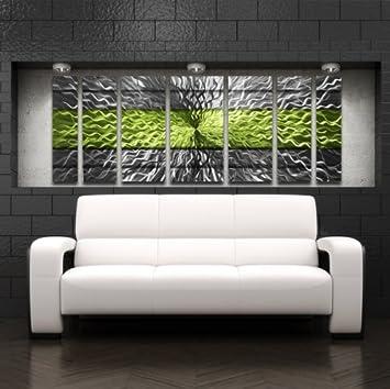 Green Metal Wall Art Panels Modern Contemporary Abstract Metal Wall  Sculpture Art Work Painting Home Décor