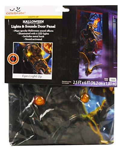 WayToCelebrate Headless Horseman Halloween Door Panel with Lights & Sounds ()