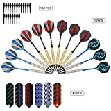 AUKUK Needle Tip Darts Set,Safety Dart Set Soft Tip Darts Game Room Board Games Play on The Table Leisure Sports for Kids or Adult(12 Pcs)