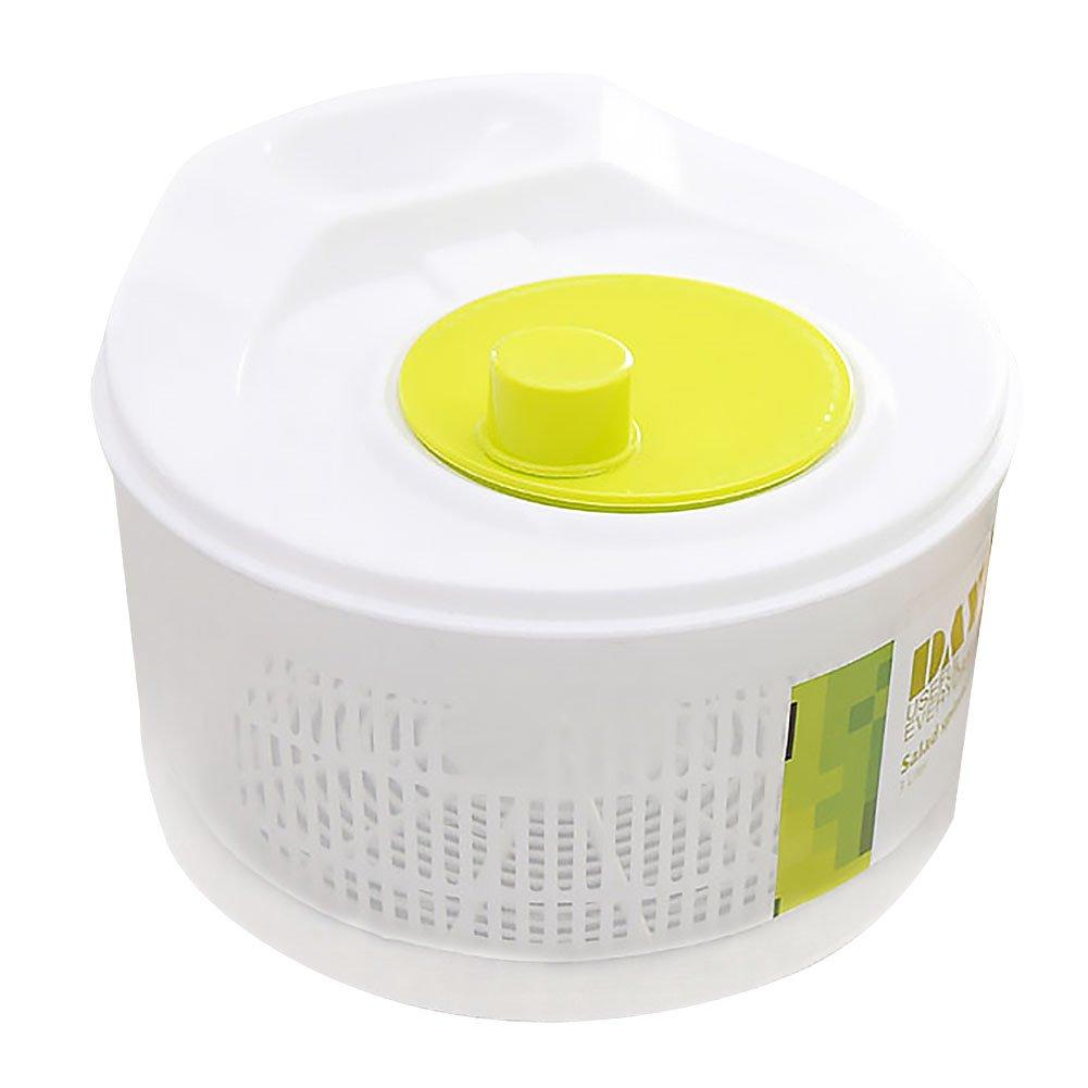 Salad Spinner, Osierr6 Manual Lettuce Spinner Dryer, Fruits and Vegetables Dryer - Drain Lettuce and Vegetables - Large Bowl, Stop Button - Storage Lid Included