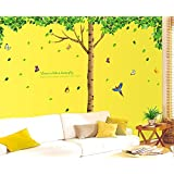 Oren Empower 3Pc/Set (Pack Of 3 Sheets) Extra Large Big Green Tree Wall Sticker (Finished Size On Wall - 330(W) X 225(H) Cm)