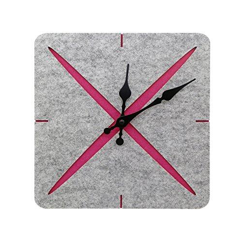 Ornerx Felt Square Wall Clock Home Office Decor - Square Clock Felt
