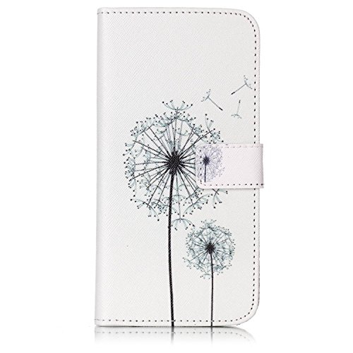 iPhone 7 Plus Case, iPhone 7 Plus Wallet Case, Easytop Stand Feature Luxury Book Style Design PU Leather Folio Flip Wallet Cover Case with Built-in Card Slots Magnet Closure (Dandelion)