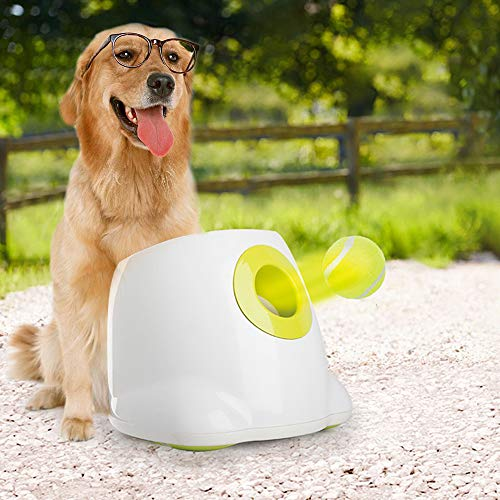 All for Paws Interactive Automatic Dog Ball Launcher, Hyper Fetch Dog Toy Includes 3 Tennis Balls, Max