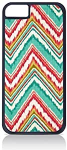 Colorful Ikat Chevron Pattern- For SamSung Galaxy S5 Phone Case Cover Universal-Hard Black Plastic Outer Shell with Inner Soft Black Hard Lining-(NOT 5C)