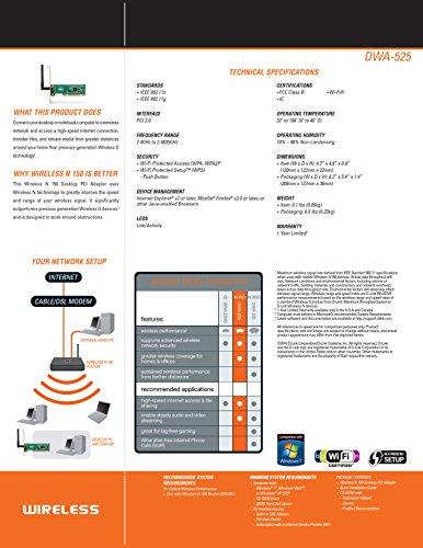 D-Link N-150 Desktop Wi-Fi PCI/PCIe Adapter