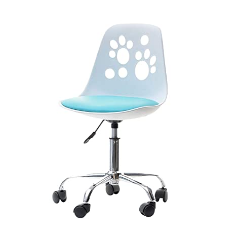 Incredible Selsey Foot Desk Chair Funky Swivel Chair For Kids Adjustable Chair On Casters For Childrens Desk In Choice Of Colours White And Blue Creativecarmelina Interior Chair Design Creativecarmelinacom