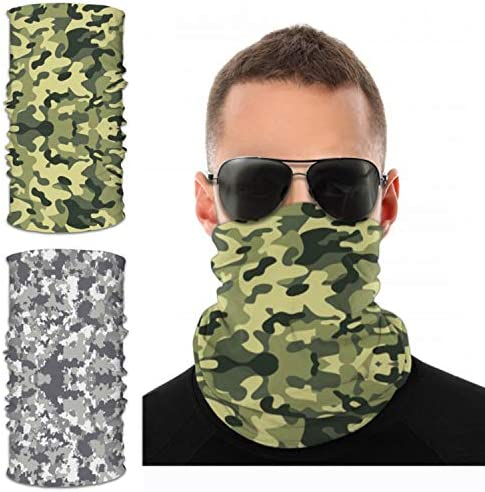 UV Neck Gaiter MaskBandana Balaclava Face Mask Breathable Cooling Sun Summer for Fishing Running 2 Packed