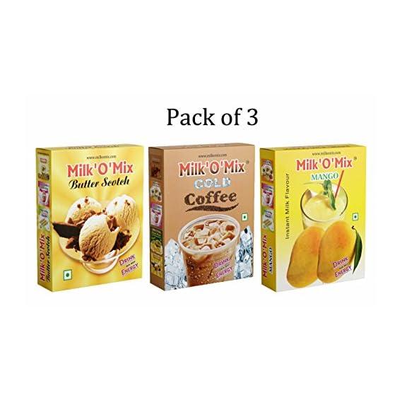 Milkomix Butter Scotch, Colf Coffee & Mango Shake Flavored Milk Powder