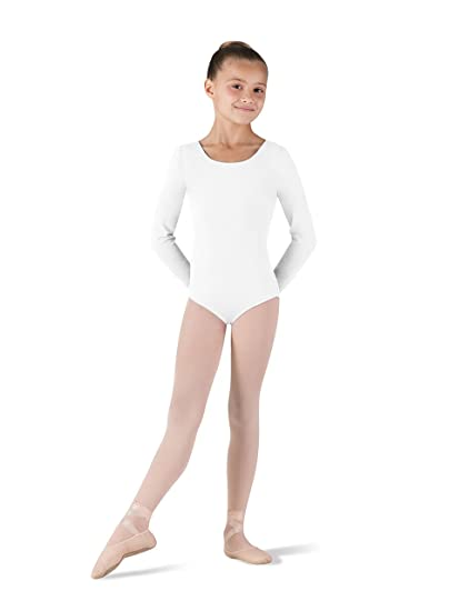 3744faead1b31 Amazon.com: Bloch Girl's Basic Long Sleeve Round Neck Dance Leotard:  Clothing