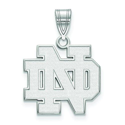 LogoArt Sterling Silver Notre Dame Fighting Irish Medium Pendant