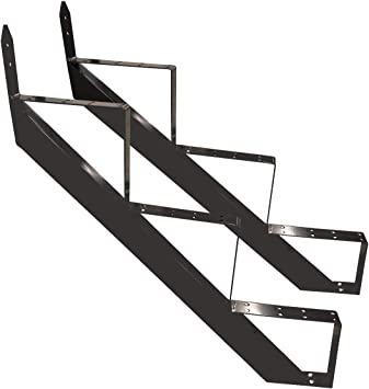 Escalera de acero RAL 7016 para escaleras, 2-10 niveles, color antracita: Amazon.es: Bricolaje y herramientas