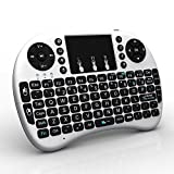Zenoplige 2.4G Mini i8 Wirelesss Multi-Touch Touchpad Keyboard and Mouse for PC, PAD, XBox 360, PS3, Google Android TV Box, HTPC, IPTV with Removable Battery Touchpad (White)