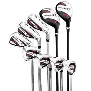 Wilson ProStaff X - Juego de 9 palos de golf para hombre (acero, para diestros)