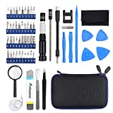 LiNKFOR Precision Screwdriver Set Repair Tool Kit 58 in 1 Magnetic Screwdriver Set with Magnetic Mini Portable 40 Bits Precision Repair Tool for iPad iPhone PC Laptops PS4 Computer Smartphones Eyeglasses Watches Camera Blue
